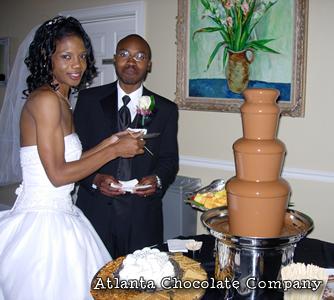 27 Inch Milk Chocolate Fountain Wedding Photo Of Bride And Groom Image